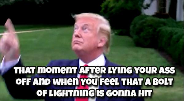 trump lightning