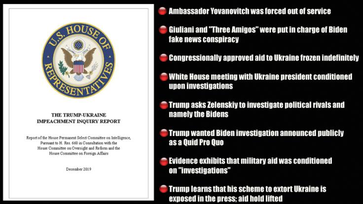bullet point house report impeachment copy